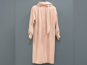 Nippon Couture Pink Wool Coat, With Push-up Sleeves,