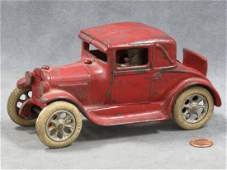 VINTAGE ARCADE CAST IRON FORD 3-WINDOW MODEL A COUPE