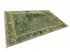 "Sino-indo Hand Woven Floral Design Carpet. 10'8"" X"