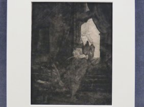 After Rembrandt Van Rijn (dutch 1606-1669), Etching,