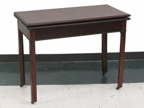 Chippendale Carved Rosewood Flip-top Game Table,