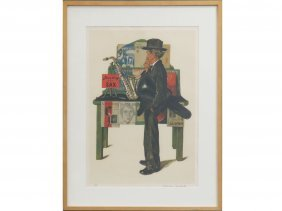 Norman Rockwell (american 1894-1978), Color Lithograph,