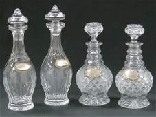 LOT (2) PAIR CUT CRYSTAL DECANTERS INCLUDING WATERFORD