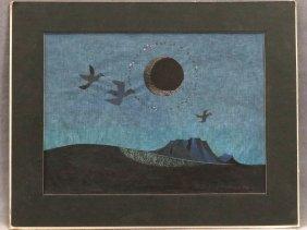 Yoshi Kanamori (japan 1922-), Woodblock Print, Birds