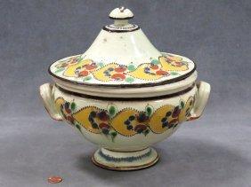 Tin Glazed Earthenware Tureen, 19/20th Century. Height