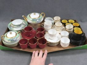 Lot Assorted Porcelain Demitasse Cups/saucers And Tea