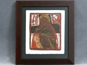 After Pablo Picasso (1881-1973), Linocut, Mother And