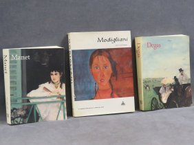 "Lot (3) Art Reference Volumes Including ""degas"" And"