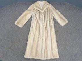 Silver Mink Full Length Coat
