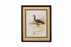Dave Chapple (american 1947-), Etching, Goose In Water,