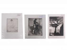 Lot (3) Etchings Including Stephen Mcmillen