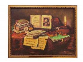 Continental School (20th Century), Oil On Canvas,