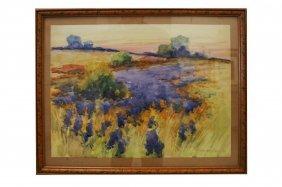 American School (20th Century) Watercolor, Landscape