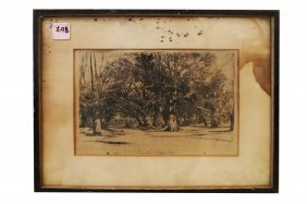 "Sir Francis Seymour Haden (uk 1818-1910), Etching, ""a"
