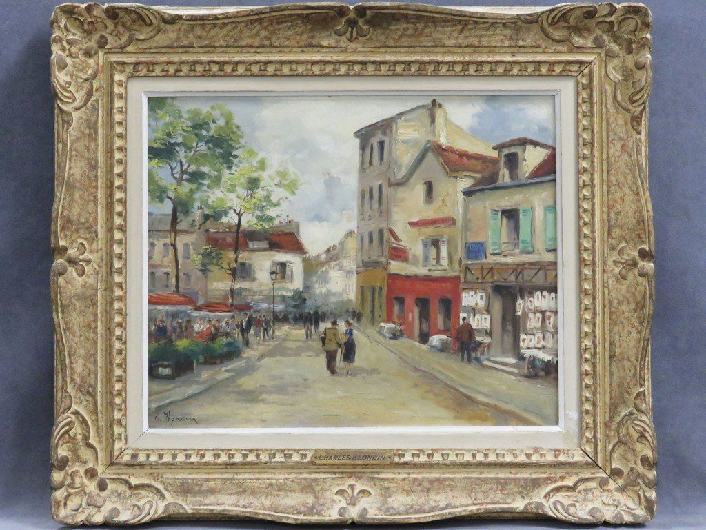 CHARLES BLONDIN (FRENCH 20TH CENTURY), OIL ON CANVAS,