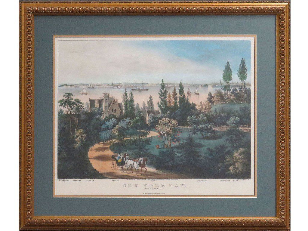 CURRIER AND IVES PUBLISHERS, HAND COLORED LITHOGRAPH,