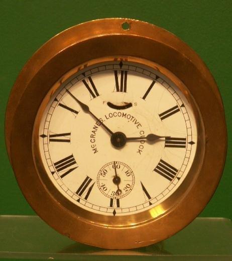 1001: BRONZE MCGRANE'S LOCOMOTIVE CLOCK