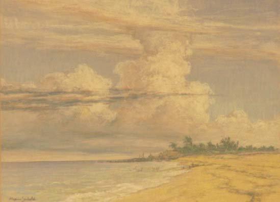 1008: GRAPHITE/PASTEL, FLORIDA BEACH SCENE, SEIBOLD