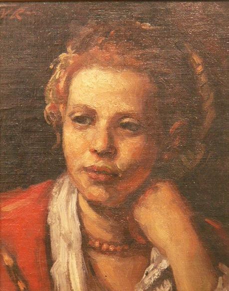 """1024: OIL ON BOARD, """"PORTRAIT OF A GIRL"""""""