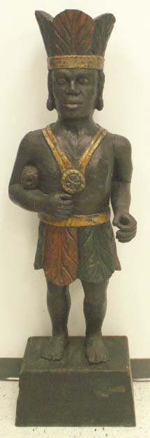 1298: CARVED/PAINTED CIGAR STORE INDIAN
