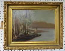 AMERICAN SCHOOL 19TH CENTURY OIL ON CANVAS