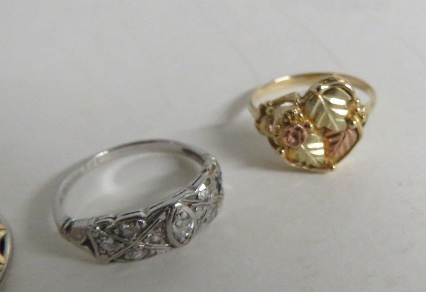 LOT (3) 14K GOLD & PLATINUM RINGS TWT 7.55 GRAMS - 2