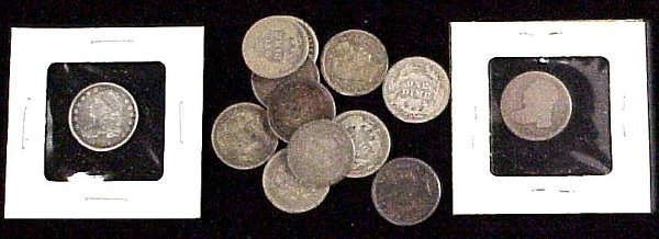 2: LOT (13) ASSORTED SILVER DIMES