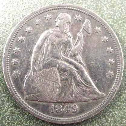 11: 1849 LIBERTY SEATED SILVER DOLLAR