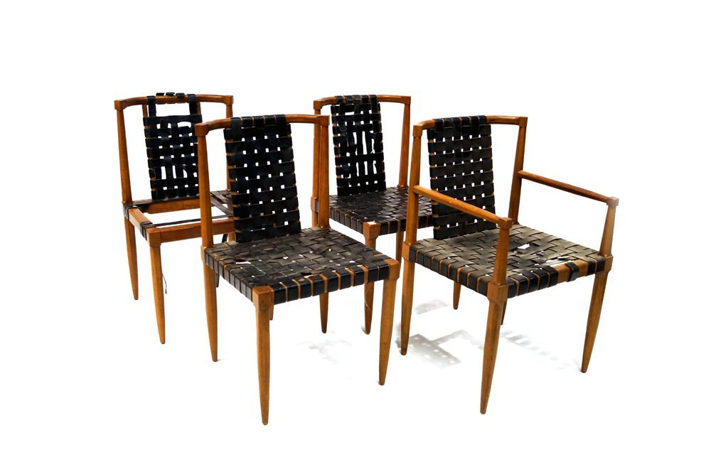 SET (4) MID-CENTURY MODERN CHAIRS, IN THE MANNER OF
