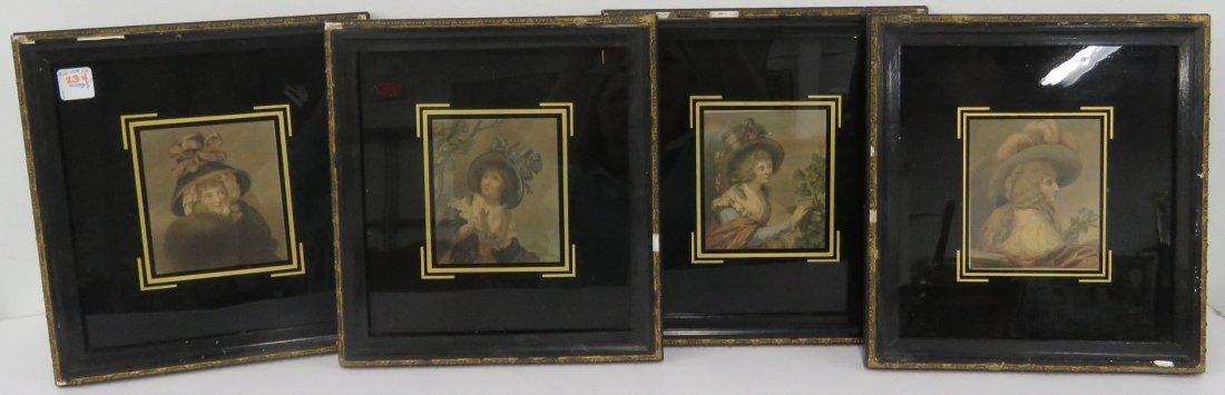 FRANCESCO BARTOLOZZI (ITALIAN 1727-1815), SET (4)