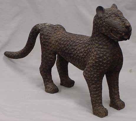 10: BENIN BRONZE ROYAL LEOPARD