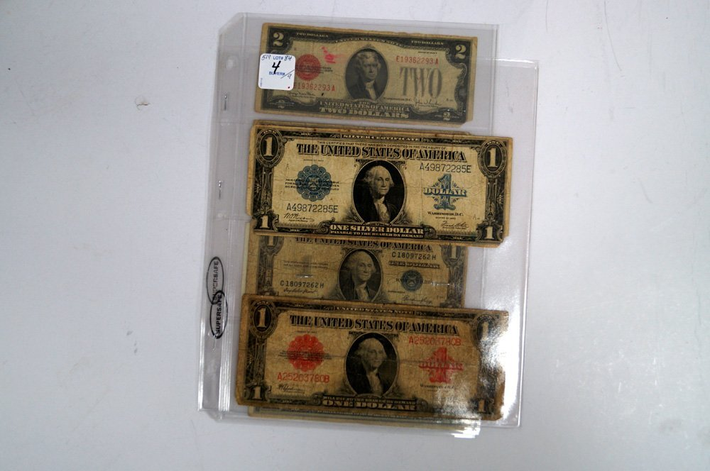 LOT (9) ASSORTED US CURRENCY INCLUDING (2) LARGE SERIES