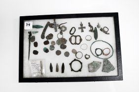 Lot Including Assorted Roman/byzantine Coins/relics