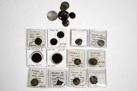 Lot (24) Assorted English/french Medieval Silver Coins