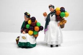 "Lot (2) Royal Doulton Decorated Porcelain Figures, ""old"