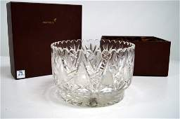 """WATERFORD STYLE CUT CRYSTAL BOWL. HEIGHT 5 1/4"""";"""