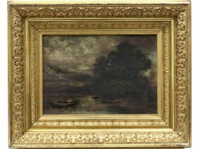 American School (19th Century), Oil On Canvas,