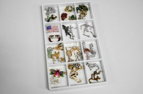Lot Assorted Fashion Costume Jewelry Pins/brooches