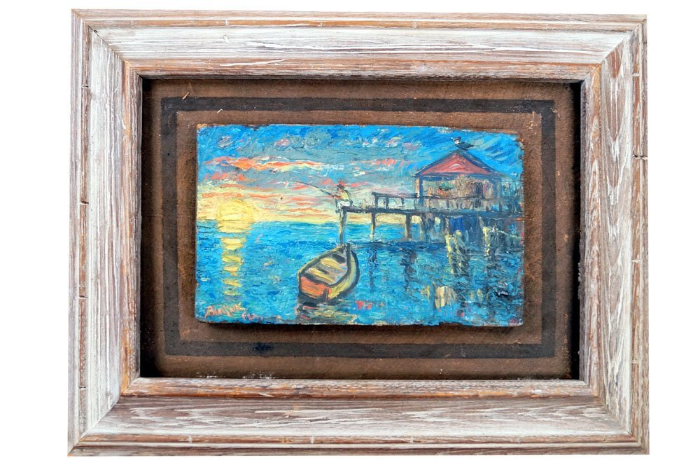 DAVID BURLIUK (RUSSIAN/AMERICAN 1882-1967), OIL ON WOOD