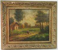 CONTINENTAL SCHOOL 20TH CENTURY OIL ON CANVAS