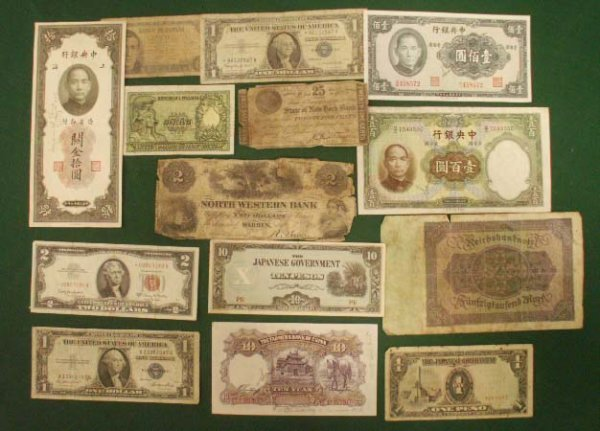 1006: LOT (14) ASSORTED US/FOREIGN CURRENCY