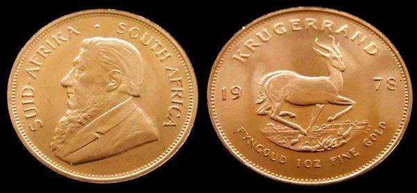 1010: 1978 SOUTH AFRICAN KRUGERRAND (1 OZ)