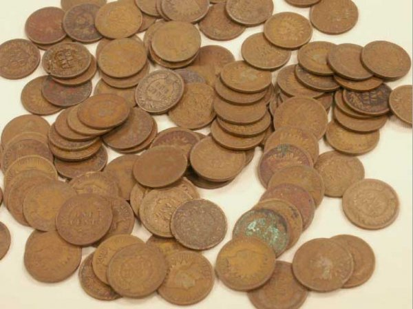 1012: LOT (113) ASSORTED U.S. INDIAN HEAD CENTS
