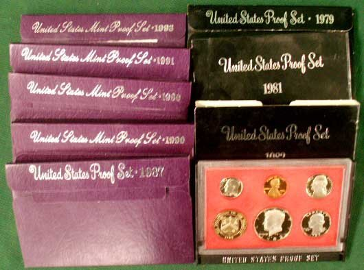 1013: LOT (8) ASSORTED U.S. PROOF COIN SETS