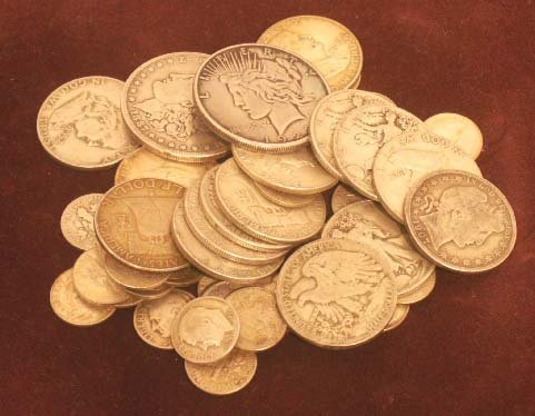 1017: LOT (46) ASSORTED U.S. SILVER COINS