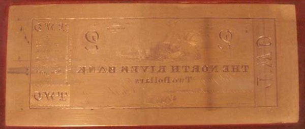 1067: VINTAGE COPPER ENGRAVED PRINTING PLATE