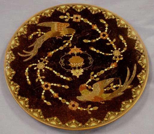 1169: JAPANESE CLOISONNE PLATE