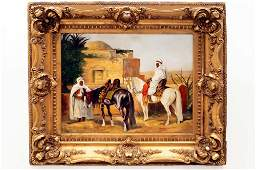 CONTINENTAL SCHOOL 19TH CENTURY OIL ON CANVAS ARAB