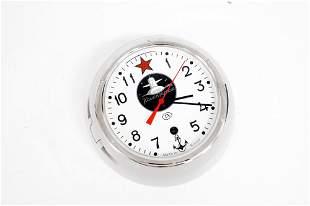 "RUSSIAN SUBMARINE CLOCK. DIAMETER 8"""
