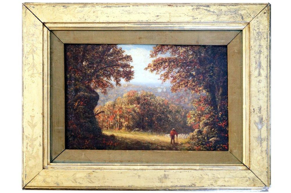 E.B. HILLEM (AMERICAN 19TH CENTURY), OIL ON ARTIST